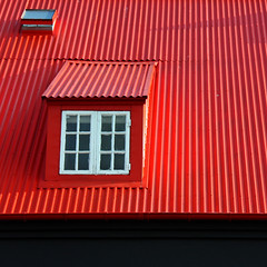window and red roof ...