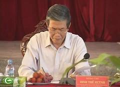 Trưởng Ban Tuyên giáo Trung ương Đinh Thế Huynh làm việc với Ban Thường vụ tỉnh ủy Hậu Giang