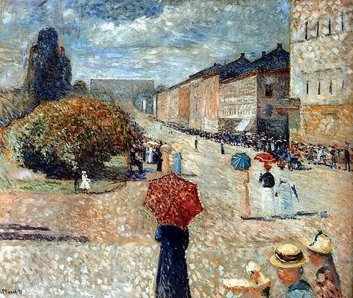 Munch, Edvard (1863-1944) - 1890 Spring Day on Karl Johann (Billedgalleri, Bergen, Norway)