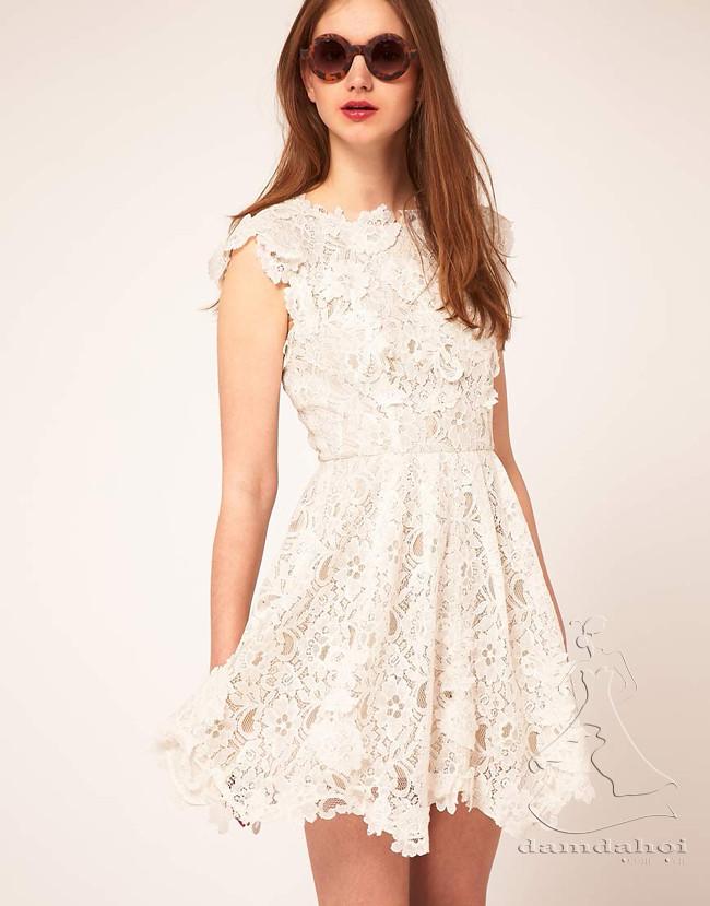Váy ren xòe nữ tính
