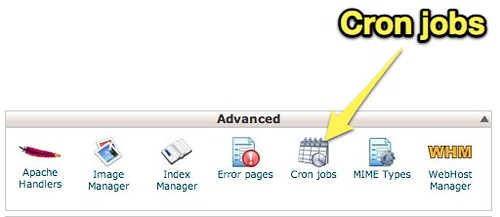cPanel X - Cron Jobs
