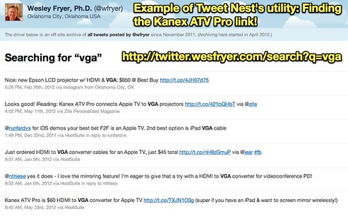 "Tweets by @wfryer / Searching for ""vga"""
