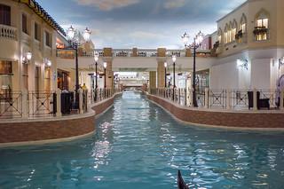 Mock Venice interior of the Villagio mall in Doha