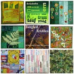 Tangled Textiles, challenge #6: Green, mosaic #2