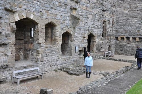 Kitchen remnants at Caernarfon castle