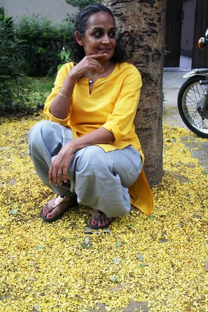 City Sighting - Arundhati Roy, Near Khanna Market