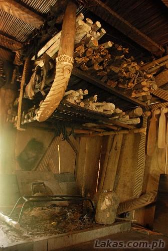 Cooking Area inside the native house of Sitio Awa in Abatan, Hungduan, Ifugao