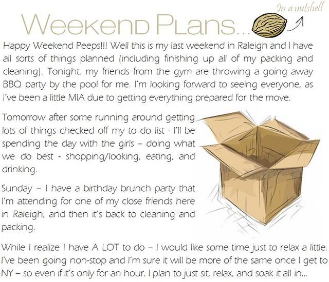 weekend plans 6.1.12