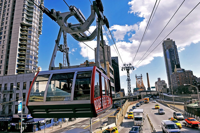 The city's cable car.