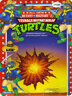 """MUTANT MILITARY 2"" TEENAGE MUTANT NINJA TURTLES ::  KOOKIE KAVALRY LEO ..card backer i (( 1992 ))"