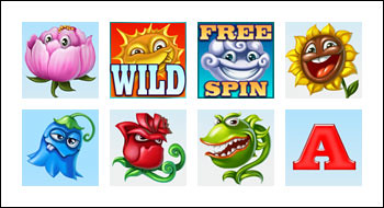 free Flowers slot game symbols