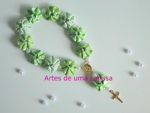 Tercinho de Fuxicos Verdes by Artes de uma Larissa