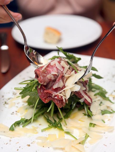 Capricci: beef tenderloin carpaccio