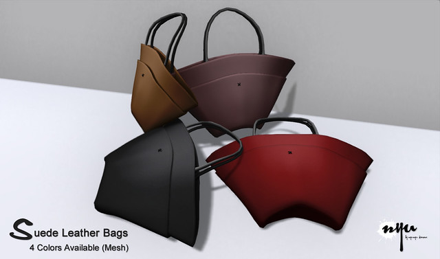 NYU - Suede Leather Bags (Mesh)