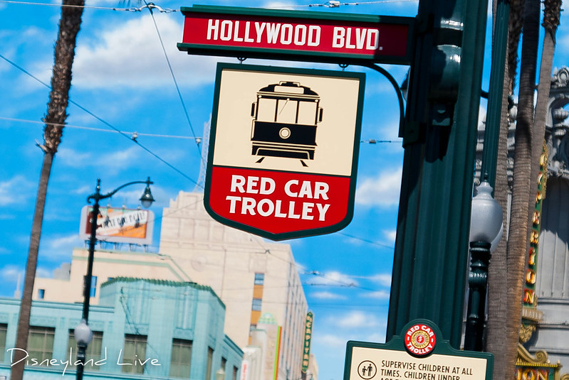 Hollywood Land - Hollywood Blvd Red Car Trolley Stop