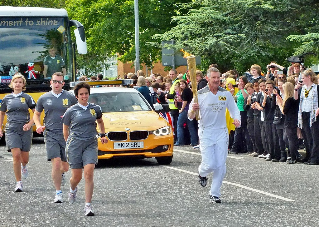 Olympic Flame in Falkirk.