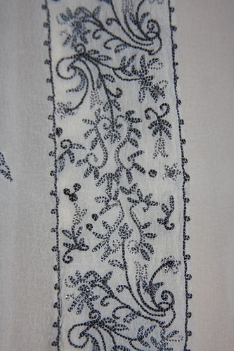 Embroidered shirt placket