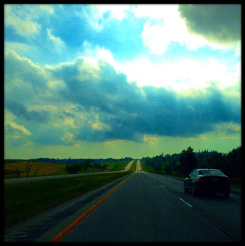 road landscape highway iowa