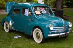 automobile, vehicle, renault 4cv, mid-size car, city car, antique car, sedan, classic car, vintage car, land vehicle,