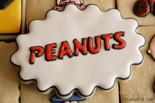 Peanuts Logo Cookie.
