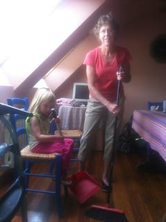 Sweeping with Grandma