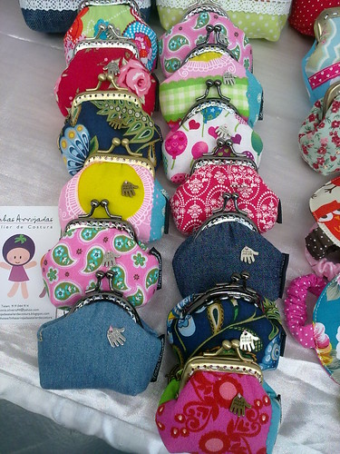 Os mini porta-moedas prontinhos ;O) by ♥Linhas Arrojadas Atelier de costura♥Sonyaxana