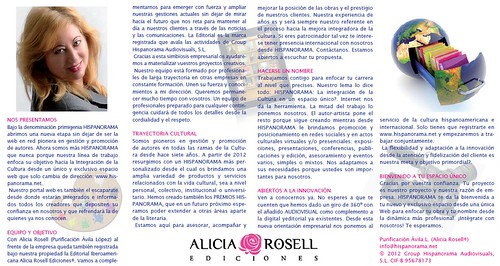 ANVERSO TARJETON HISPANORAMA by LaVisitaComunicacion