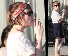 Emily Browning Smoking