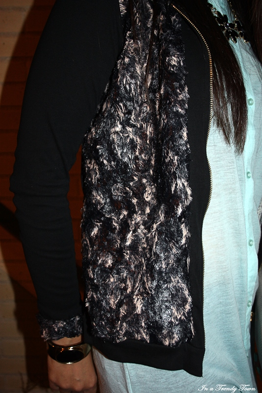OUTFIT BLACK AND TURQUOISE 5