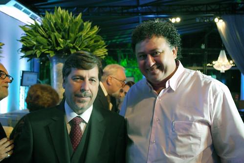 Presidente do SindusconNor/PR, José Maria de V. P. de Paula Soares e Eduardo Pioneiro