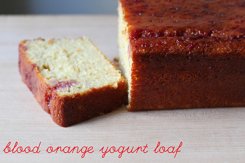 blood orange yogurt loaf cake