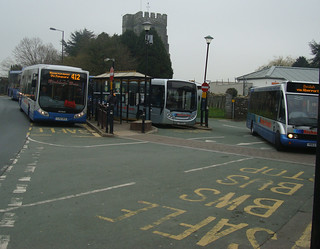 Another 4 buses at Cardigan Finch Square