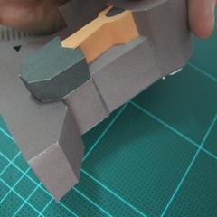 วิธีทำโมเดลกระดาษ ตุ้กตาไลน์ หมีบราวน์ ถือพลั่ว (Line Brown Bear With Shovel Papercraft Model -「シャベル」と「ブラウン」) 017