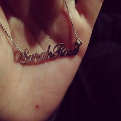 New name necklace #sarahrose #cultofpersonality