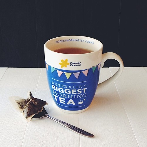 Cuppa in my @cancercouncil #biggestmorningtea mug - have you signed up to hold a morning tea?!   #eatfoodphotos April 8 | #mug   #vscocam #vsco #charity #causes #84thsupports