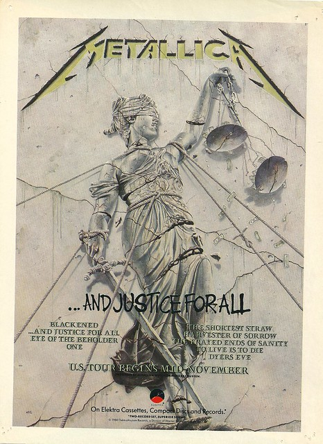 """Metallica """"...And Justice For All"""" (Released: 08/25/88)"""