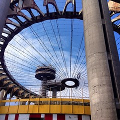 #structure #streetphotography Worlds Fair New York State Pavilion #vagabond