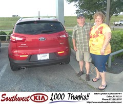 #HappyAnniversary to John Ellis on your 2012 #Kia #Sportage from Mercado Salvador  at Southwest Kia Dallas!