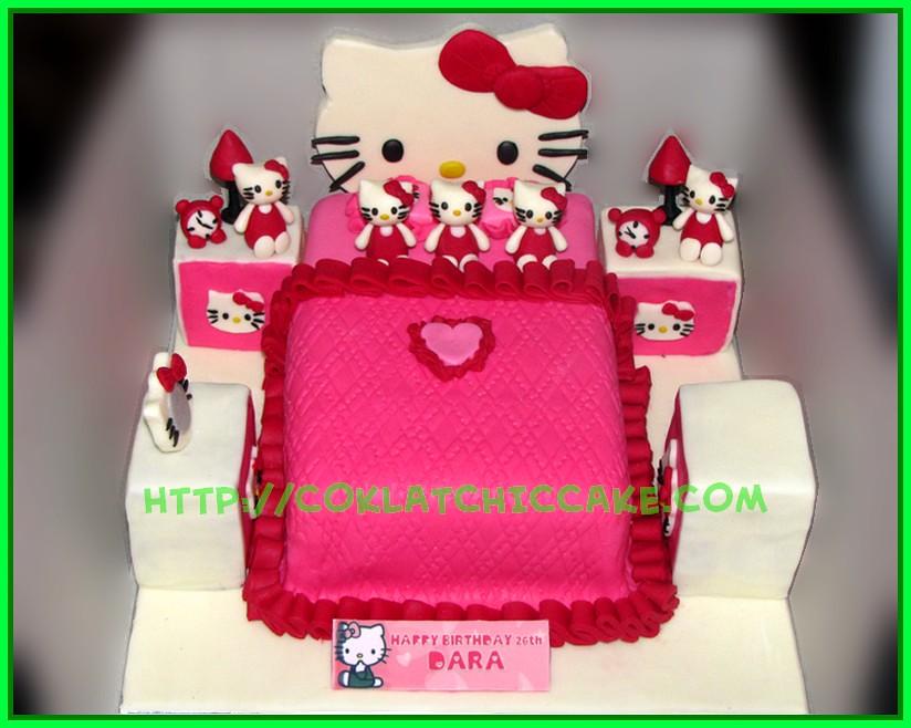 Cake Kamar Hello Kitty