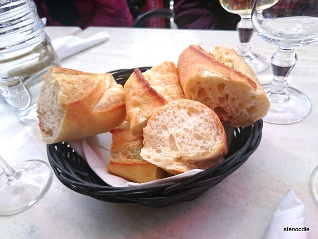 Basket of French baguettes