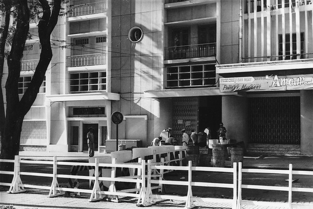 SAIGON 1966 - by Mikey Walters - Entrance to Rex BOQ
