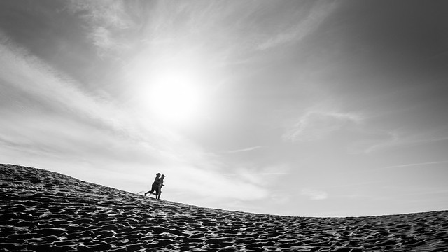 Run - Death Valley national park, California - Black and white street photography