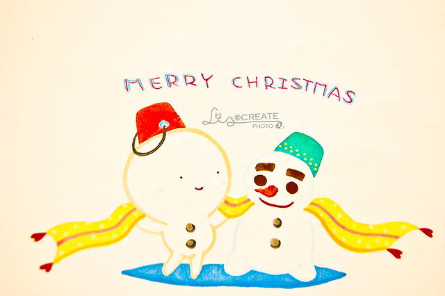 雪人圍圍巾