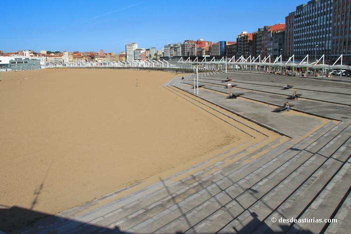 Playa de poniente gij n playas asturias playas de for Pisos compartidos gijon