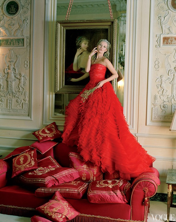 Checking Out - Vogue America, April 2012 — Kate Moss by Tim Walker and styling by Grace Coddington