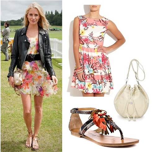 how to wear sandals - with short dress