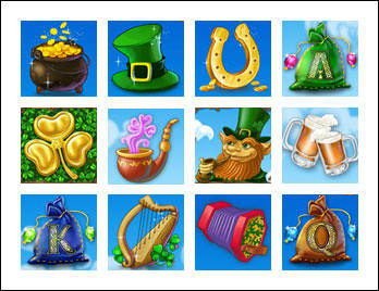 free Golden Shamrock slot game symbols