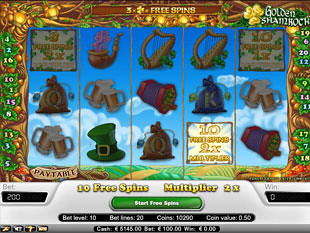 golden shamrock poker machine