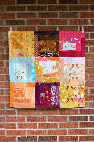 Scrappy Mendocino Quilt Top by jenib320