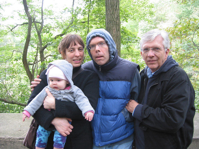In 2005, soon after he returned home from a year-long stay in the hospital, Jason's family (his daughter, wife and father) take him for a walk in the woods.